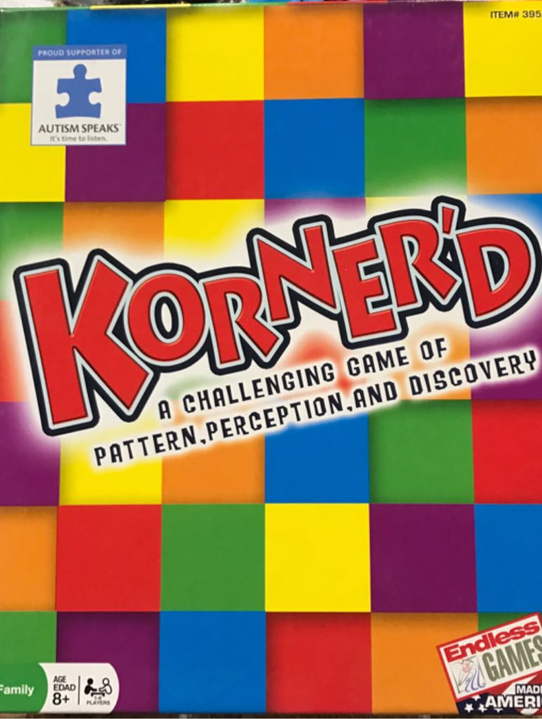 Korner'd Board Game - Endless Games (Puzzle) front image (front cover)