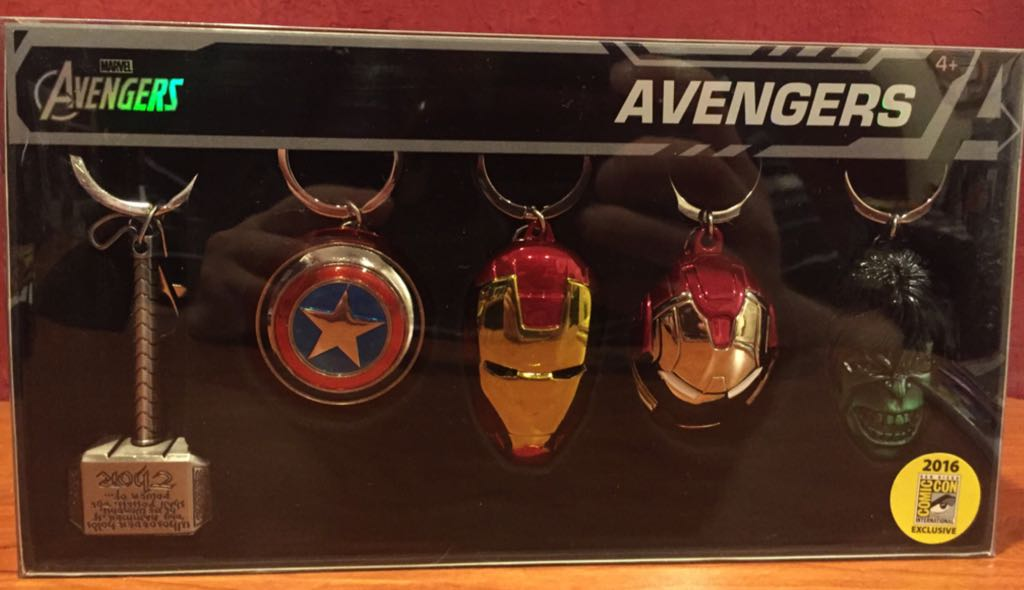 Avengers 2016 SDCC Exclusive Keyrings Bobblehead - Avengers (2016) front image (front cover)
