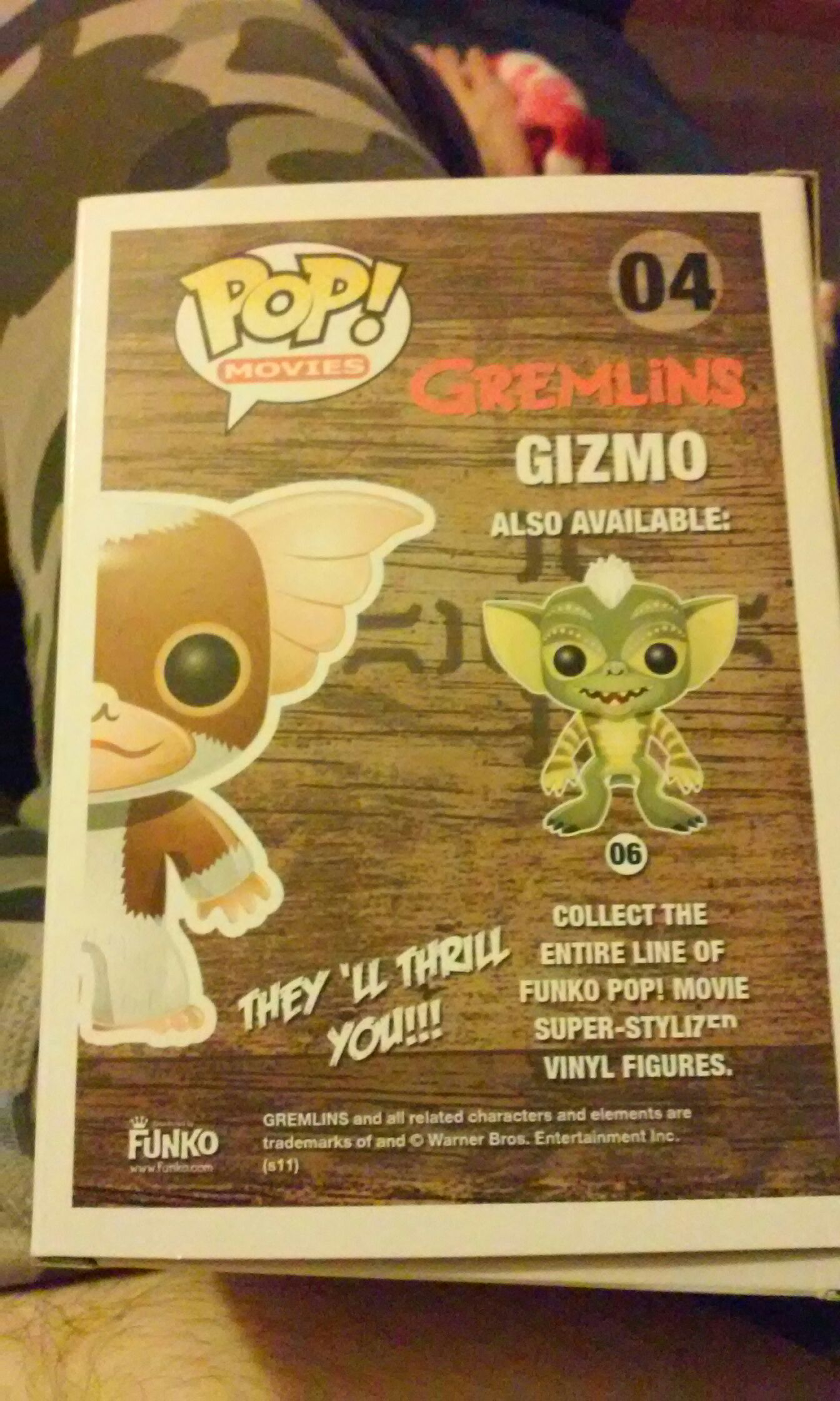 Gizmo 04 Bobblehead - Movies (2015) back image (back cover, second image)