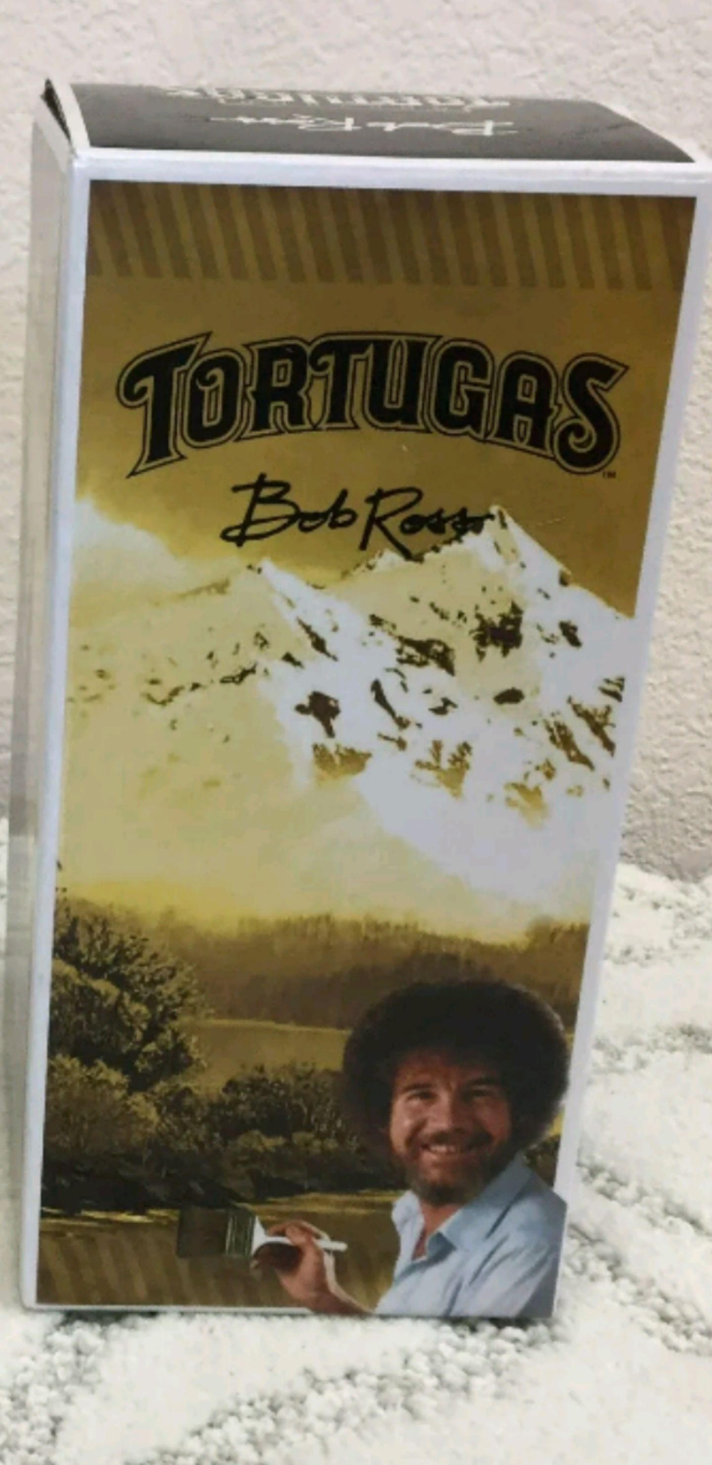 Bob Ross Gold Bobblehead back image (back cover, second image)
