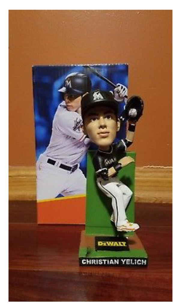 Christain Yelich Bobblehead front image (front cover)