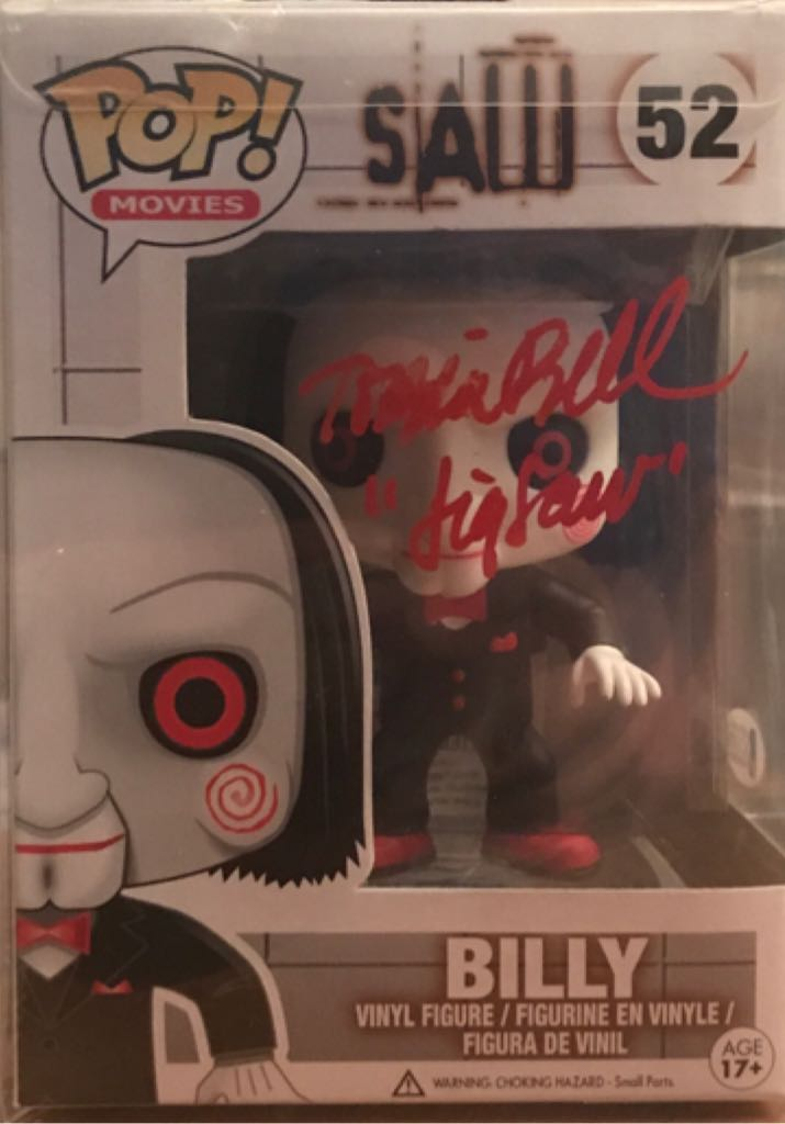 Tobin Bell - Autographed - Funko Pop Bobblehead - Funko Pop (2019) front image (front cover)