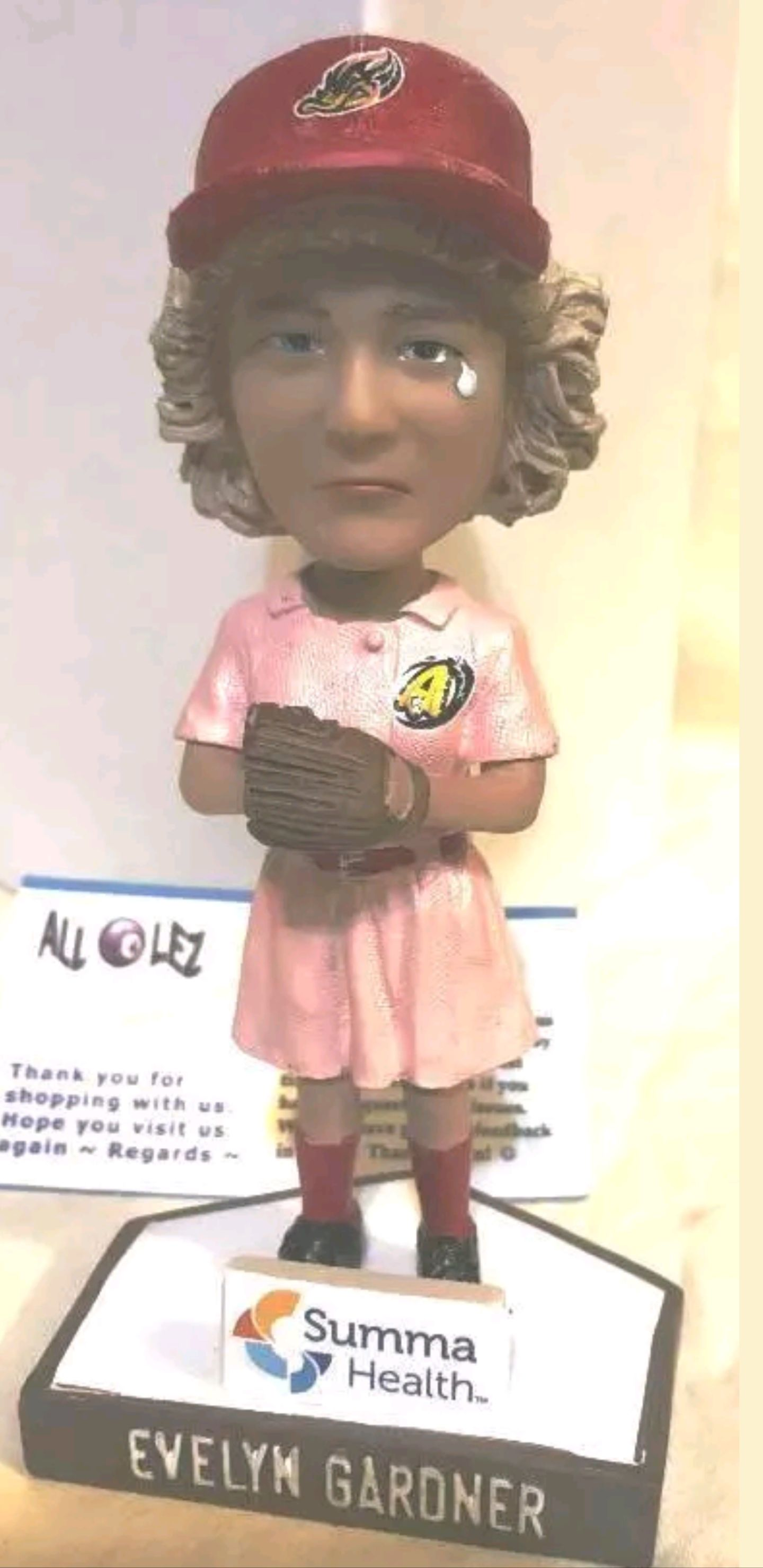 Evelyn Gardner- Auto Bobblehead front image (front cover)