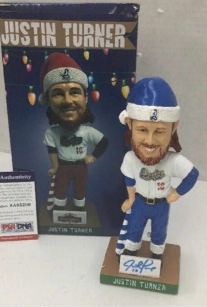 Just Turner Quakes Custom Bobblehead back image (back cover, second image)