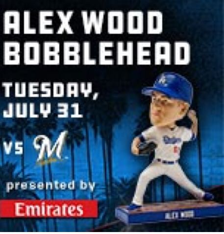 Alex Wood Bobblehead back image (back cover, second image)