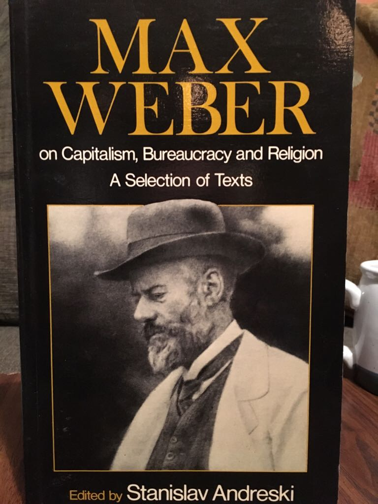 webers view on capitalism Max weber, the protestant ethic and the spirit of capitalism max weber that is the best from the point of view which interests us here.