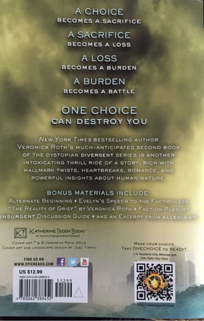 Divergent Back Cover S...