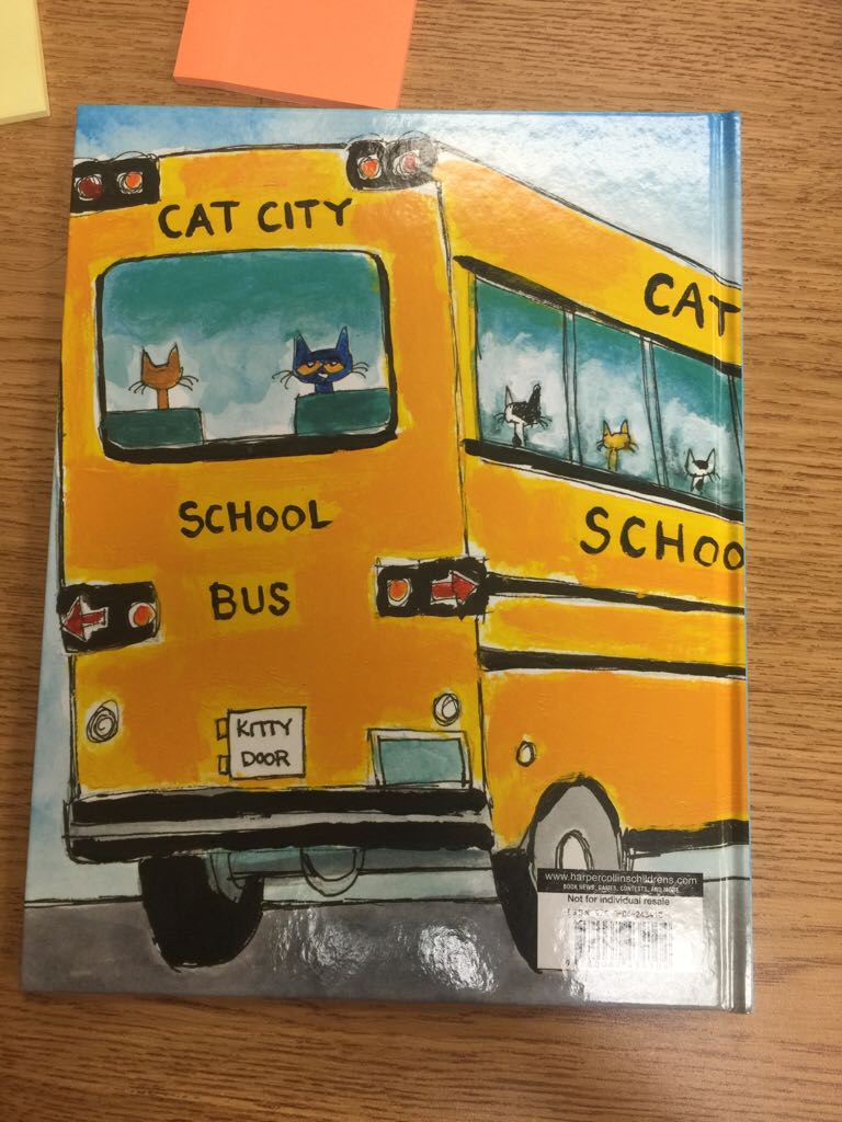 Pete The Cat Rocking In My School Shoes Book Back Image Cover Second