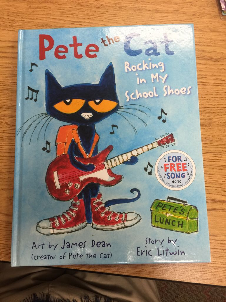 Pete The Cat Rocking In My School Shoes Book Front Image Cover