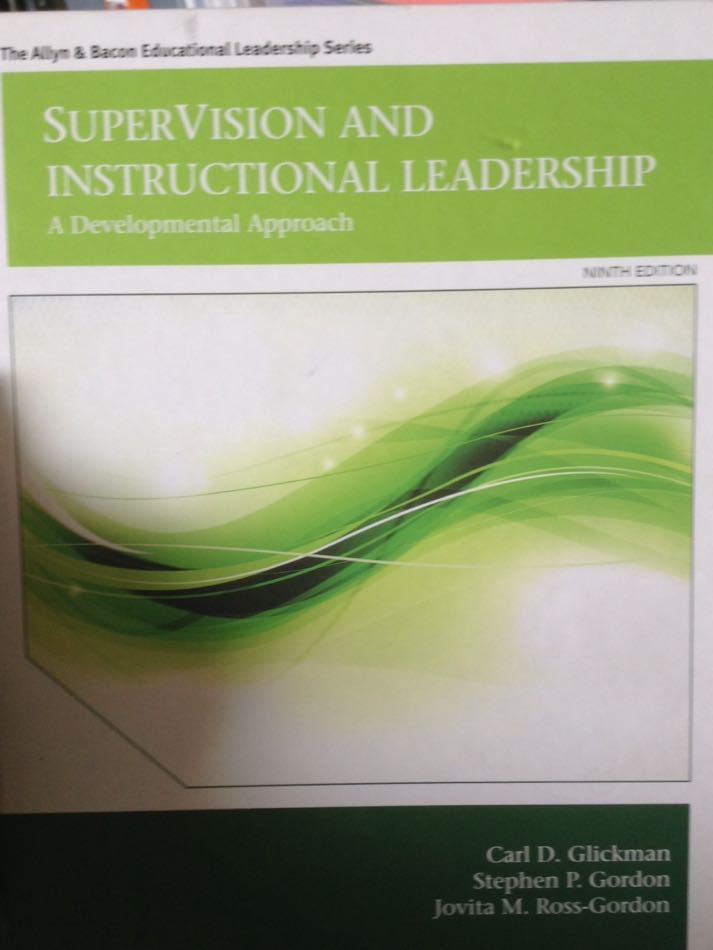 Supervision And Instructional Leadership Book Pearson College