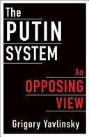 The Putin System Book front image (front cover)