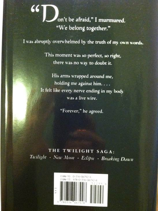 Breaking Dawn Book - Little, Brown (USA) back image (back cover, second image)