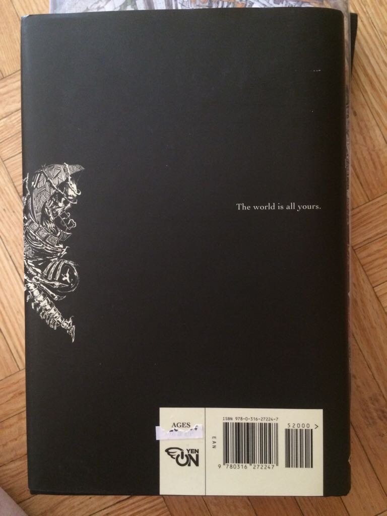 Overlord, Vol. 1 (light novel) Book - Yen Press back image (back cover, second image)