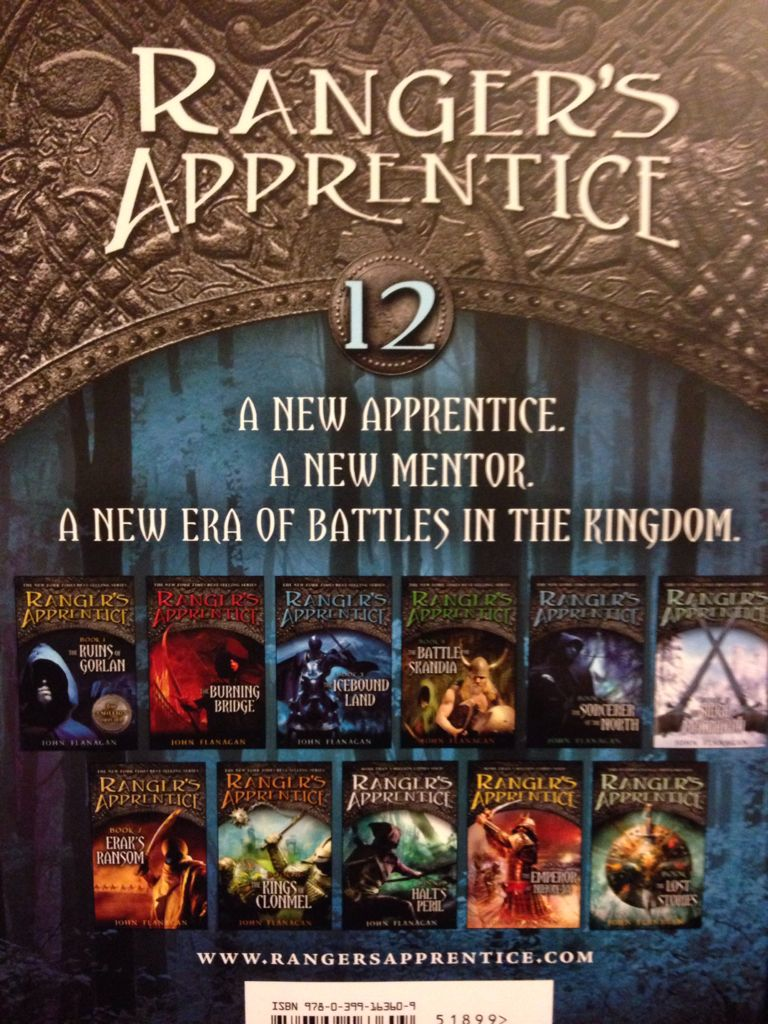 rangers apprentice book 1 book report From book 1: the ruins of gorlan is the first thrilling book in john flanagan's ranger's apprentice series - over eight million sold worldwide they have always scared him in the past - the rangers, with their dark cloaks and shadowy ways.