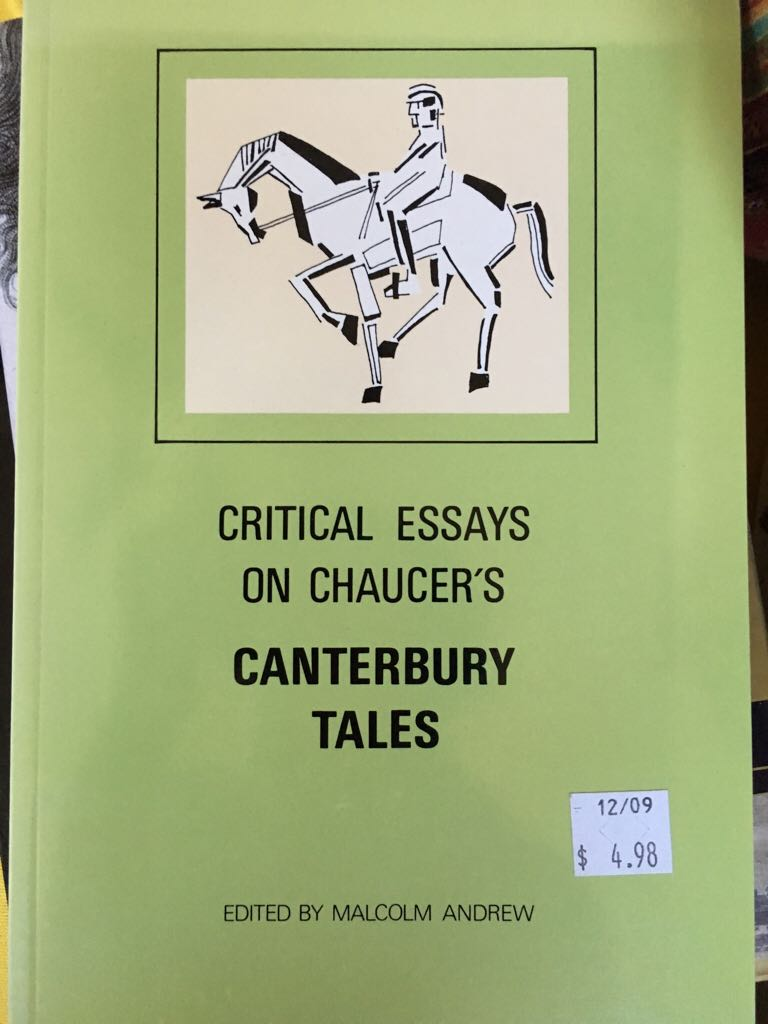 critical essay on canterbury tales The canterbury tales, a collection of tales by geoffrey chaucer, was written in middle english at the end of the 14th century in this essay we make a criticism of the church in these masterpiece.