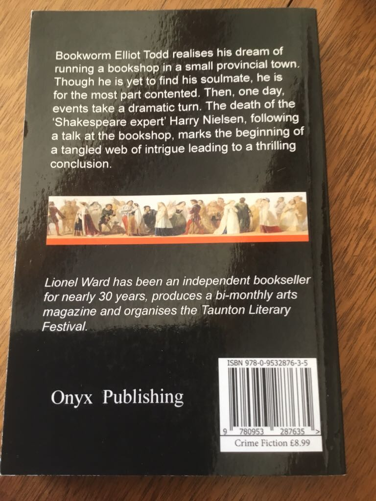 The Shakespeare Thief Book back image (back cover, second image)