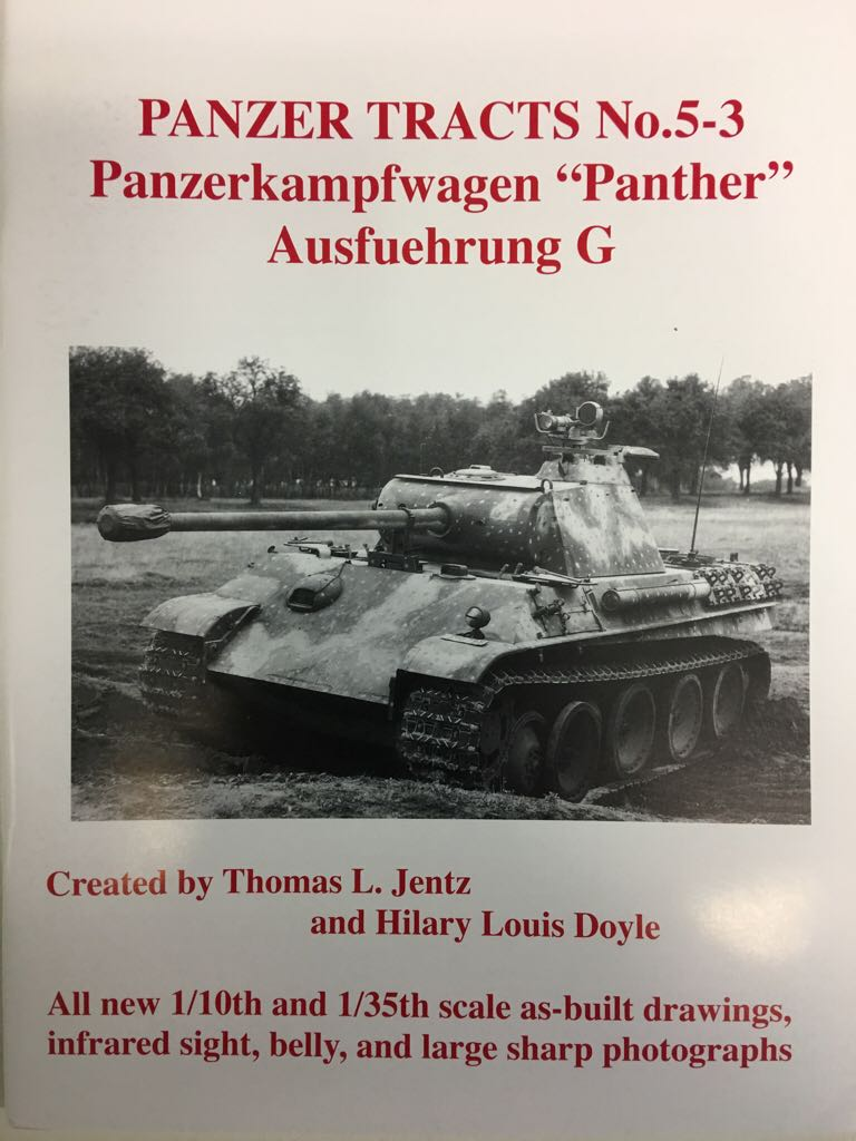 Panzer Tracts No. 5-3 Book - Panzer Tracts front image (front cover)