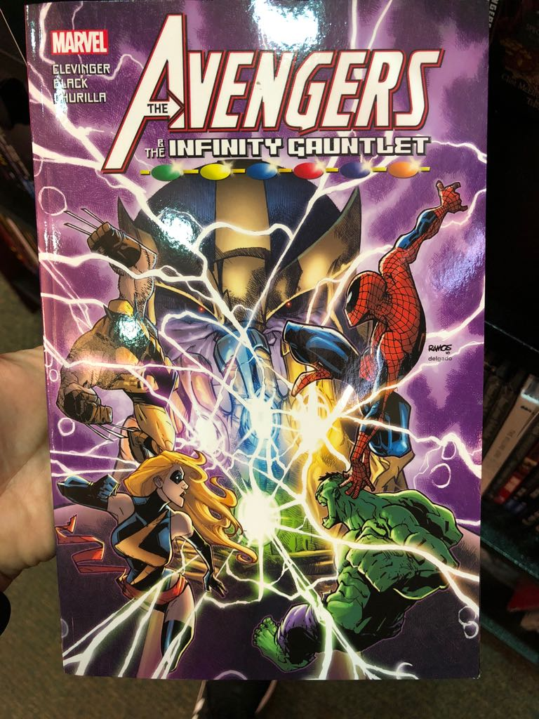 The Avengers The Infinity Gauntlet Book front image (front cover)