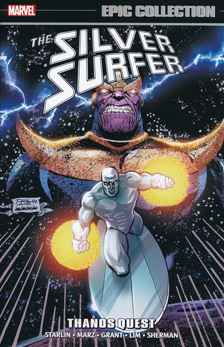 Silver Surfer Epic Collection: Thanos Quest Book - Marvel front image (front cover)