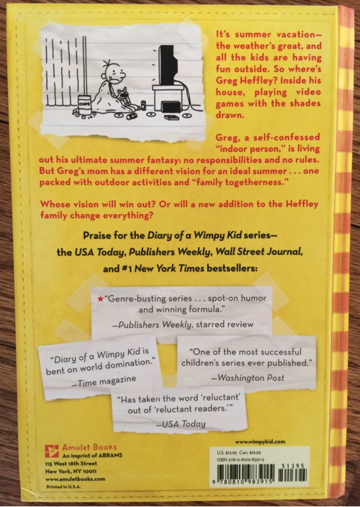 Diary Of A Wimpy Kid Dog Days Review Book