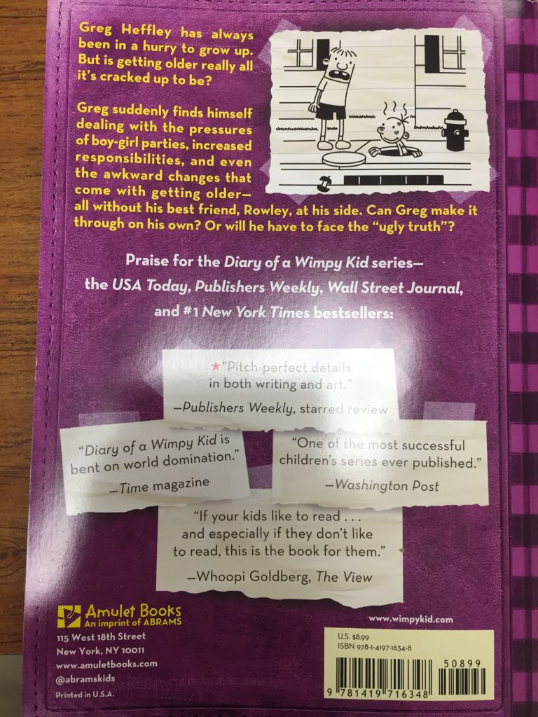 Diary of a wimpy kid 5 book report