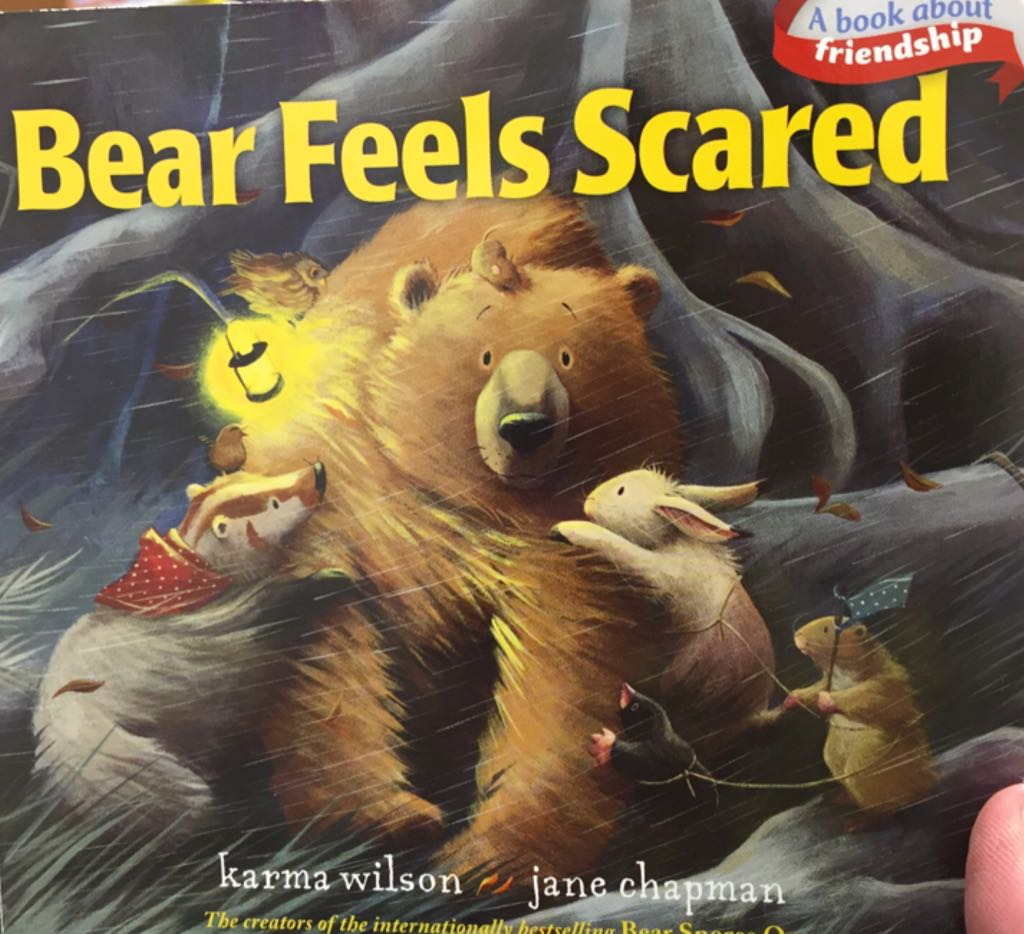 Bear Feels Scared (BB) Book - Little Simon front image (front cover)
