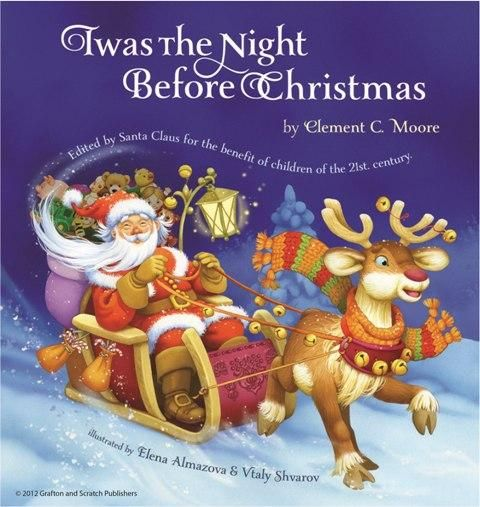 twas the night before christmas book front image front cover