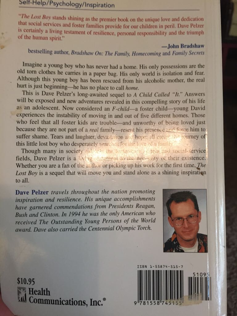 dave pelzer essay Saved essays save your essays dave pelzer's a child called it is a story based upon a boy who was physically abused by his alcoholic mother and the torment he.
