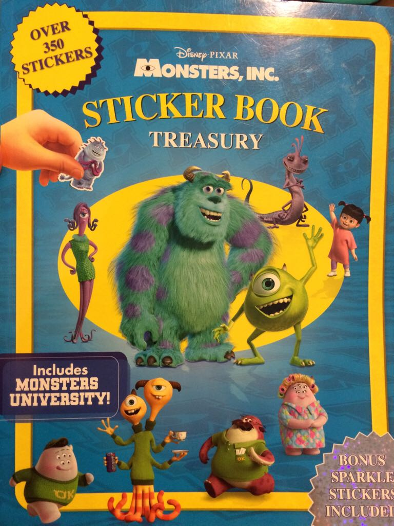 Disney Monsters Inc Sticker Book Book From Sort It Apps