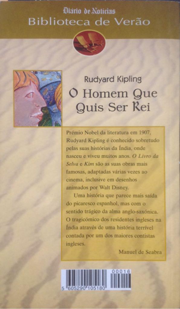 ab5ae9cc8 O homem que quis ser rei Book - Diário de Notícias back image (back cover