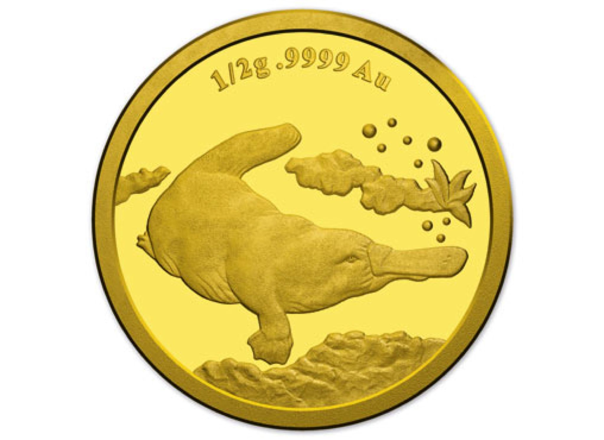 2014 $2 Gold Proof Coin - Platypus Coin - $2 (2014) front image (front cover)