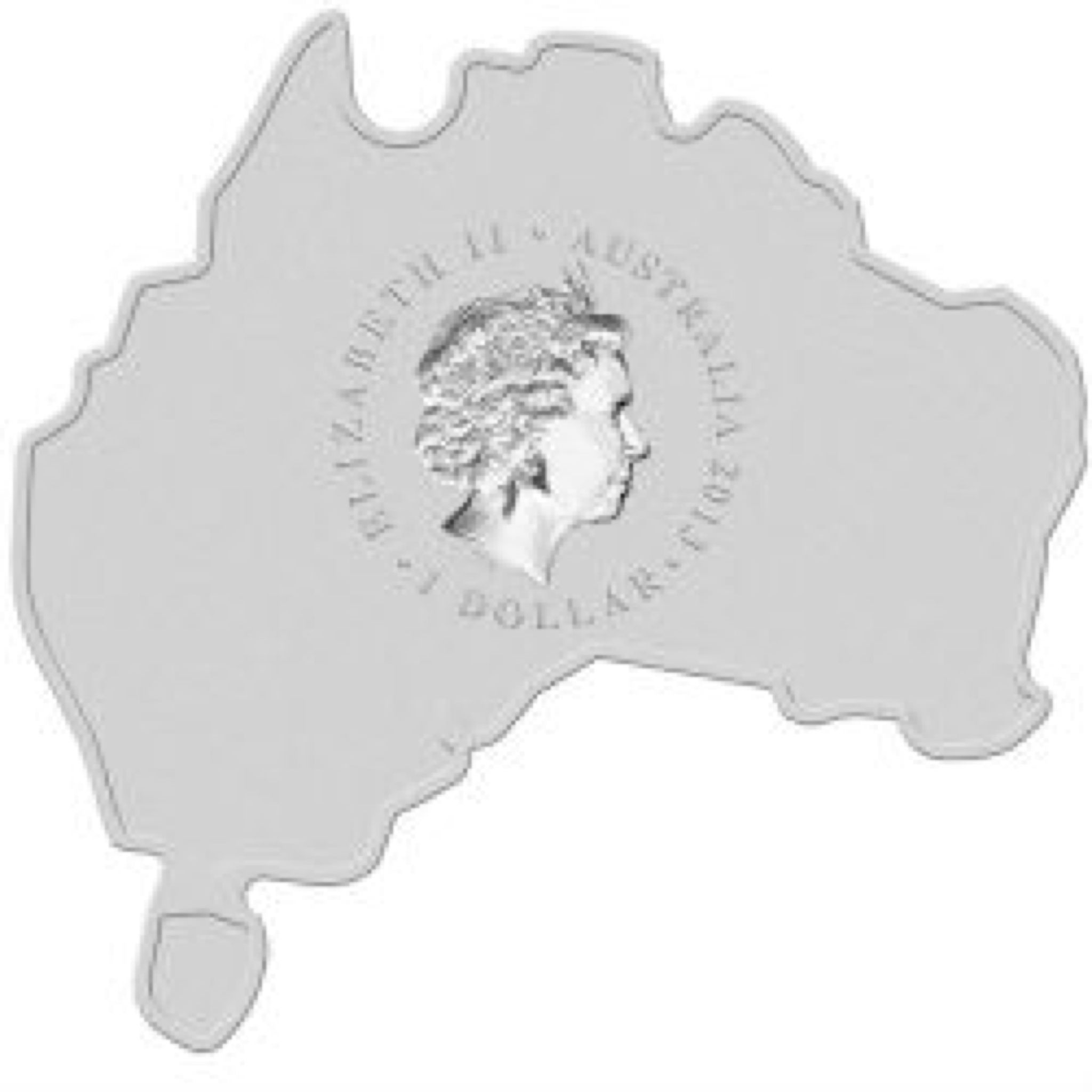 2013 Platypus 1oz Map Shape Coin - $1 (2013) back image (back cover, second image)