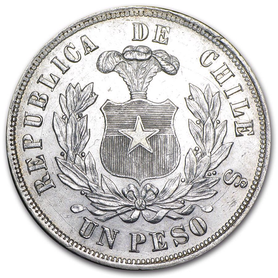 Chile 1 Peso Coin P100 1881 From Sort It Apps