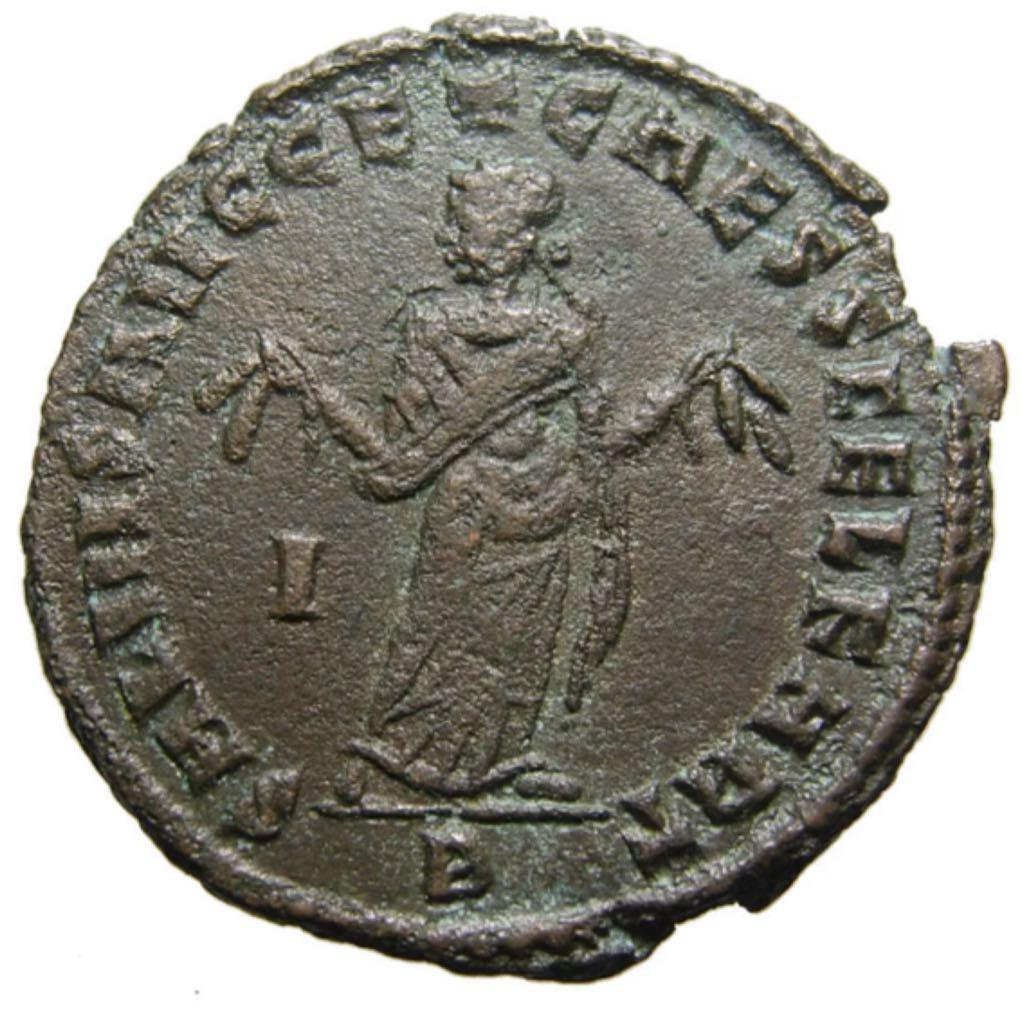 Maximinus II (as Caesar) Follis (2) Coin - $50 (2019) back image (back cover, second image)