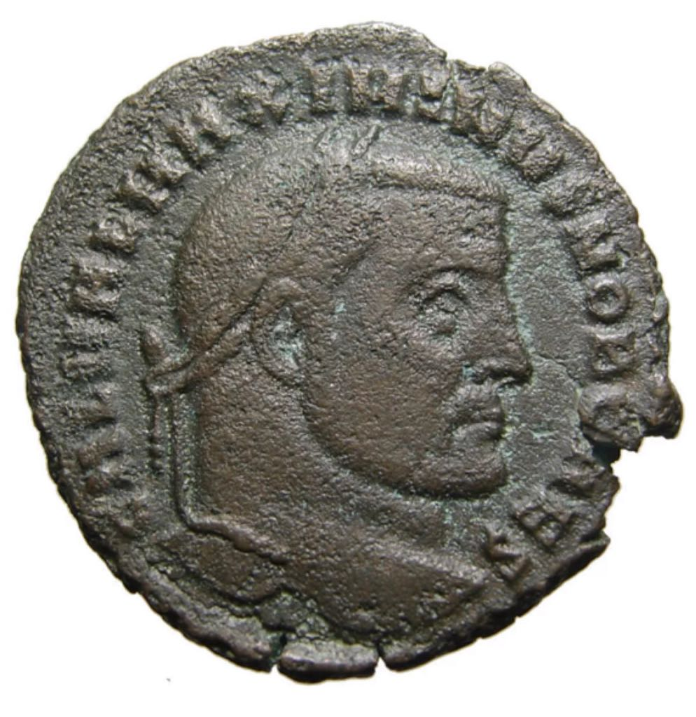 Maximinus II (as Caesar) Follis (2) Coin - $50 (2019) front image (front cover)