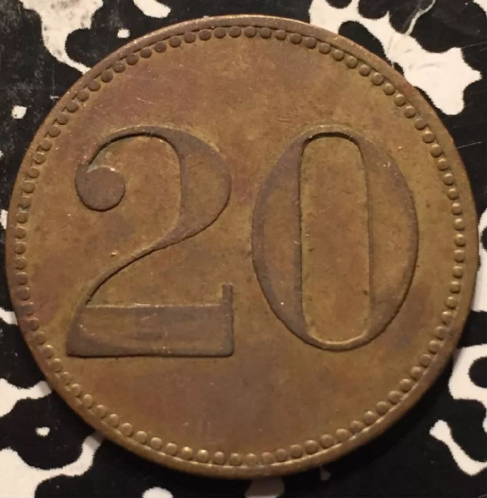 Germany Notgeld 20 Pfenning Coin (1918) back image (back cover, second image)