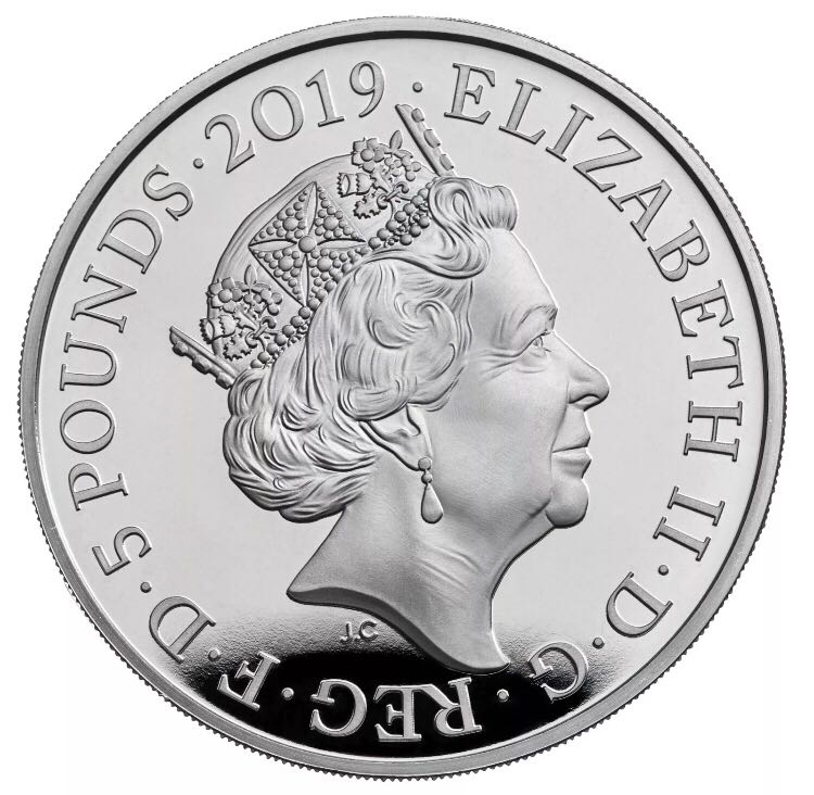 Queen Victoria 1819-2019 Coin - £5 (2019) back image (back cover, second image)