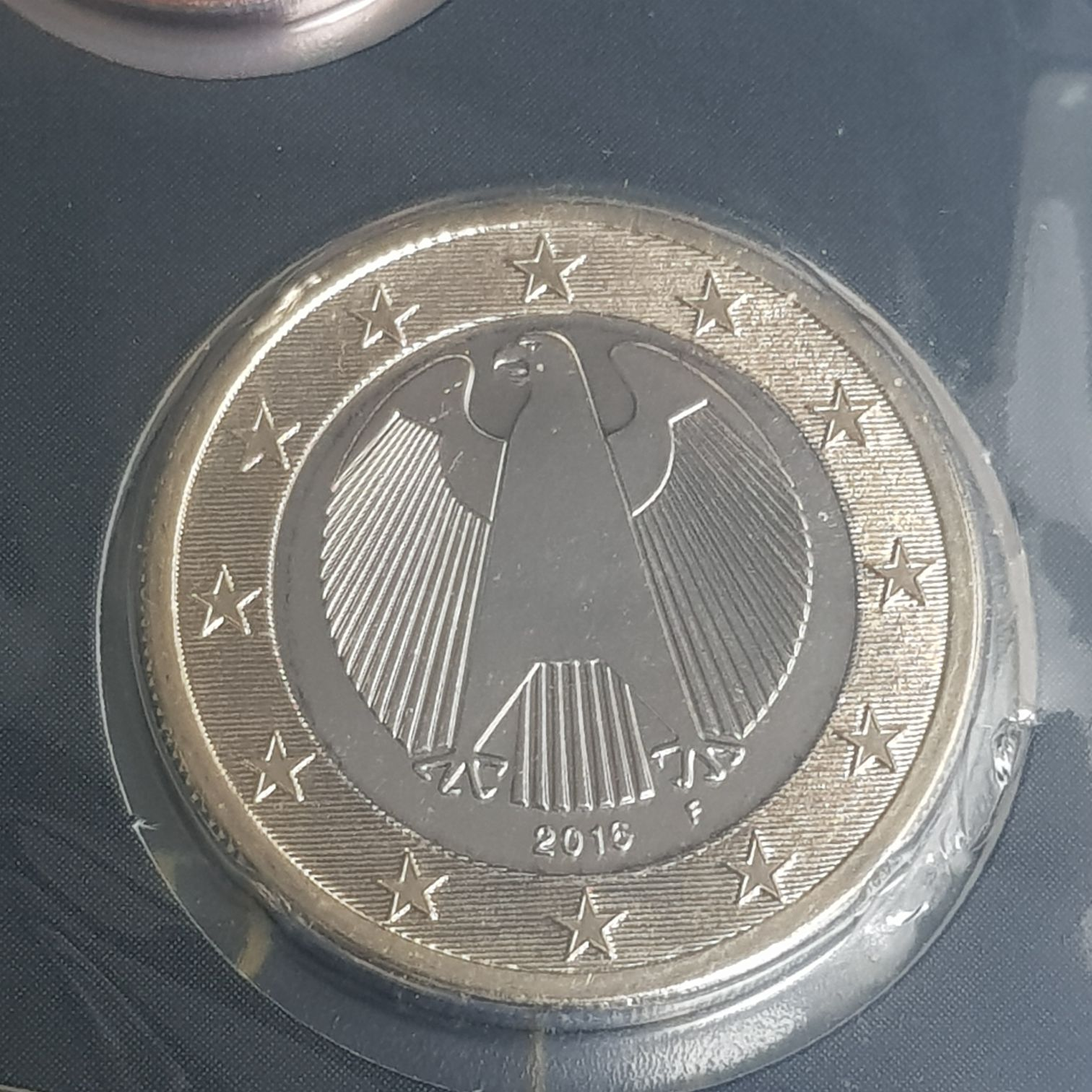 1 Euro Coin - $1 (2016) back image (back cover, second image)