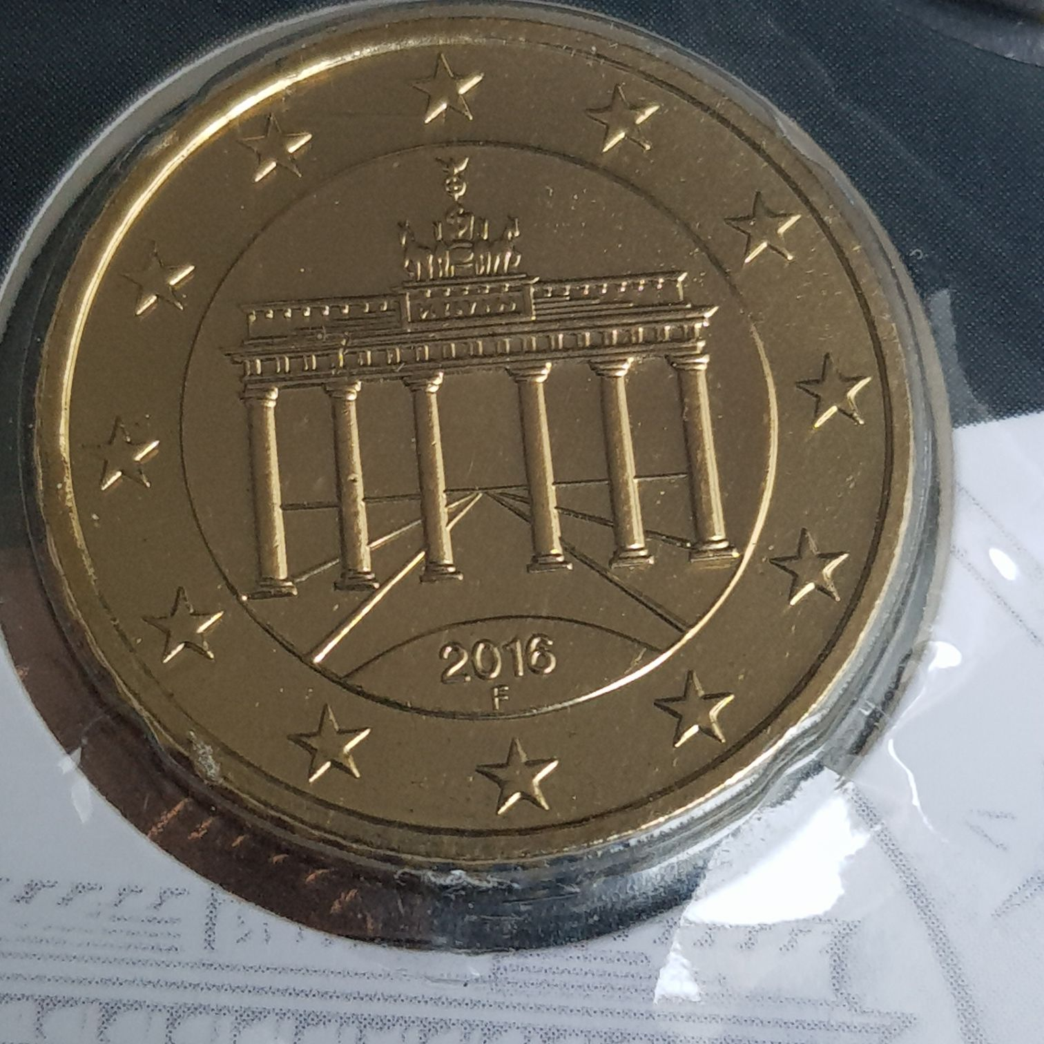 .5 Centavos De Euro Coin - $.50 (2016) back image (back cover, second image)