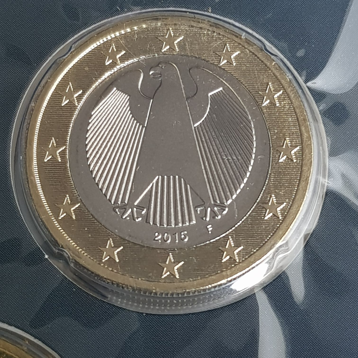 1 Euro Coin - $1 (2015) back image (back cover, second image)