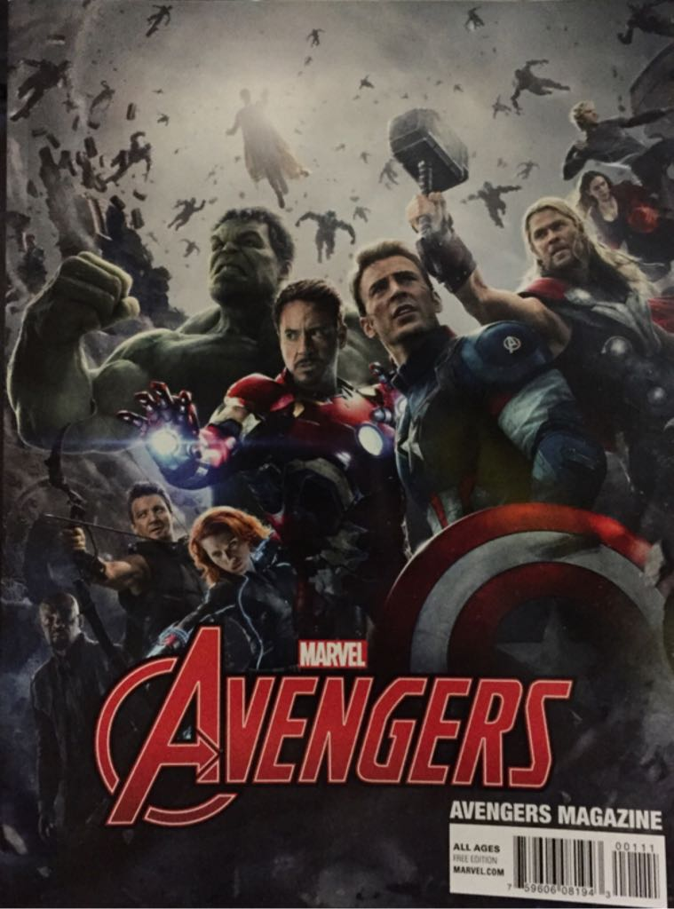 Avengers Magazine Comic Book - Marvel Comics (1) front image (front cover)