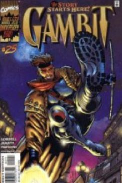 Gambit Comic Book - Marvel (25) front image (front cover)