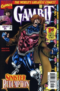 Gambit Comic Book - Marvel Comics (1) front image (front cover)