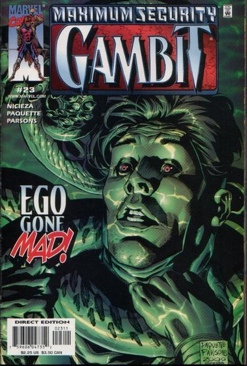 Gambit Comic Book (23) front image (front cover)