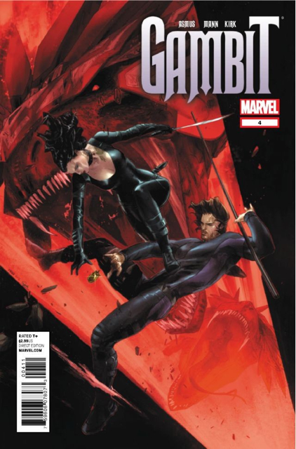 Gambit Comic Book (4) front image (front cover)