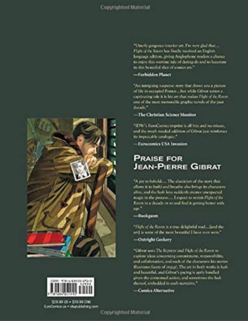 Reprieve by Jean-pierre Gibrat Paperback Book! Comic Book - Euro Comics/IDW back image (back cover, second image)