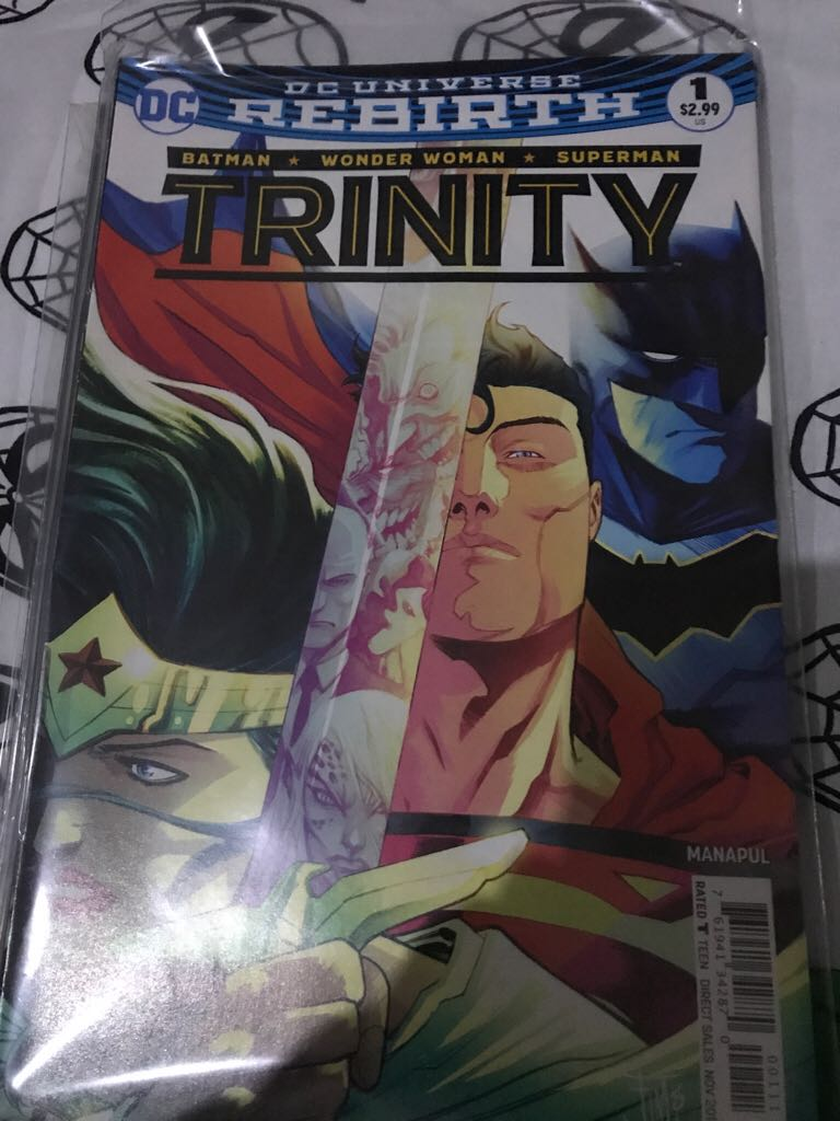 Dc Universe Rebirth: Trinity Comic Book (1) front image (front cover)