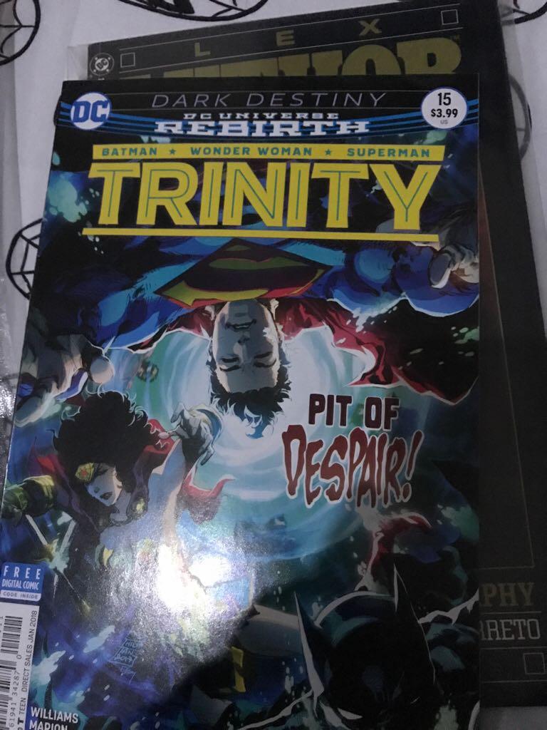 Dark Destiny DC Universe Rebirth: Trinity Comic Book (15) front image (front cover)