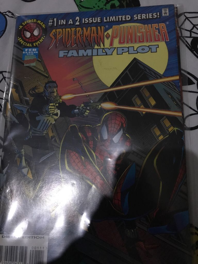 Spiderman Punisher: Family Plot Comic Book (1) front image (front cover)