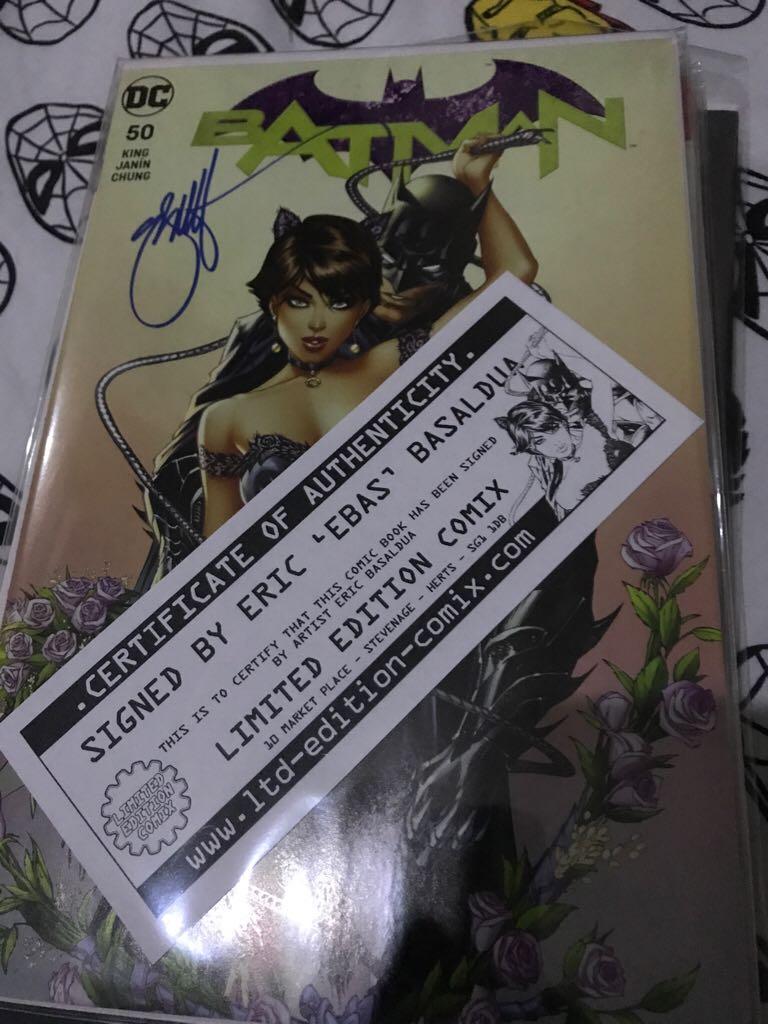 Batman #50!(signed Bt Eric EBAS Basaldua) Comic Book (50) front image (front cover)
